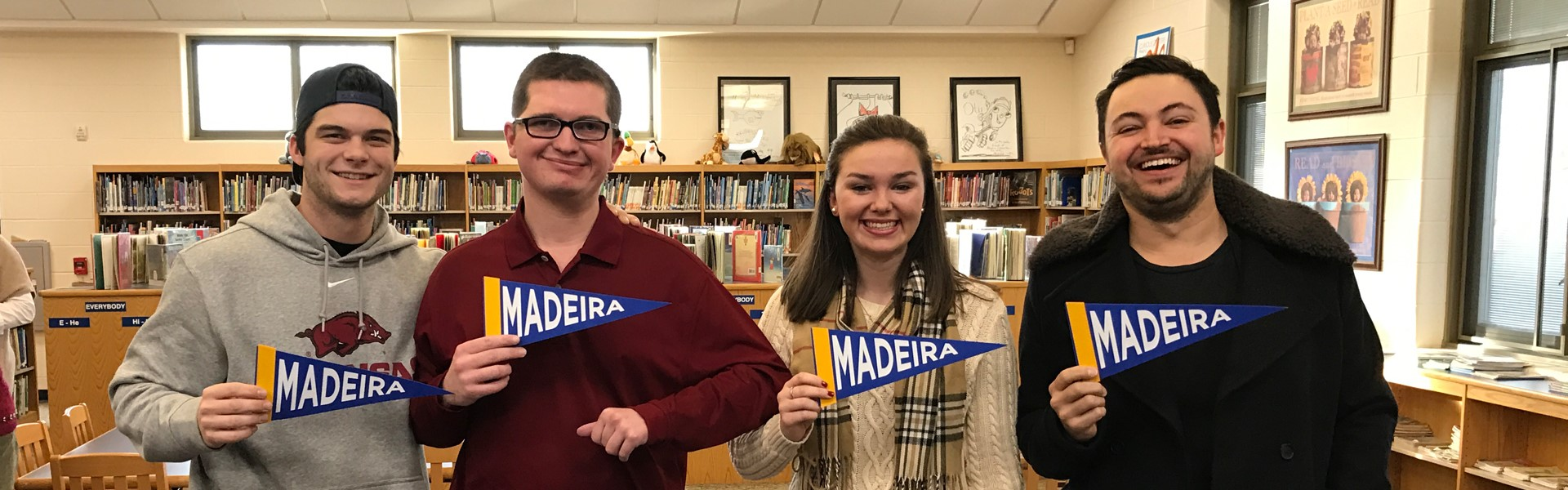 Madeira alumni Andrew Benintendi, Ryan Korengel, Maggie Griffin & Eli Maiman return to talk to our 3rd & 4th graders about perseverance #madeirastrong READ MORE BELOW...